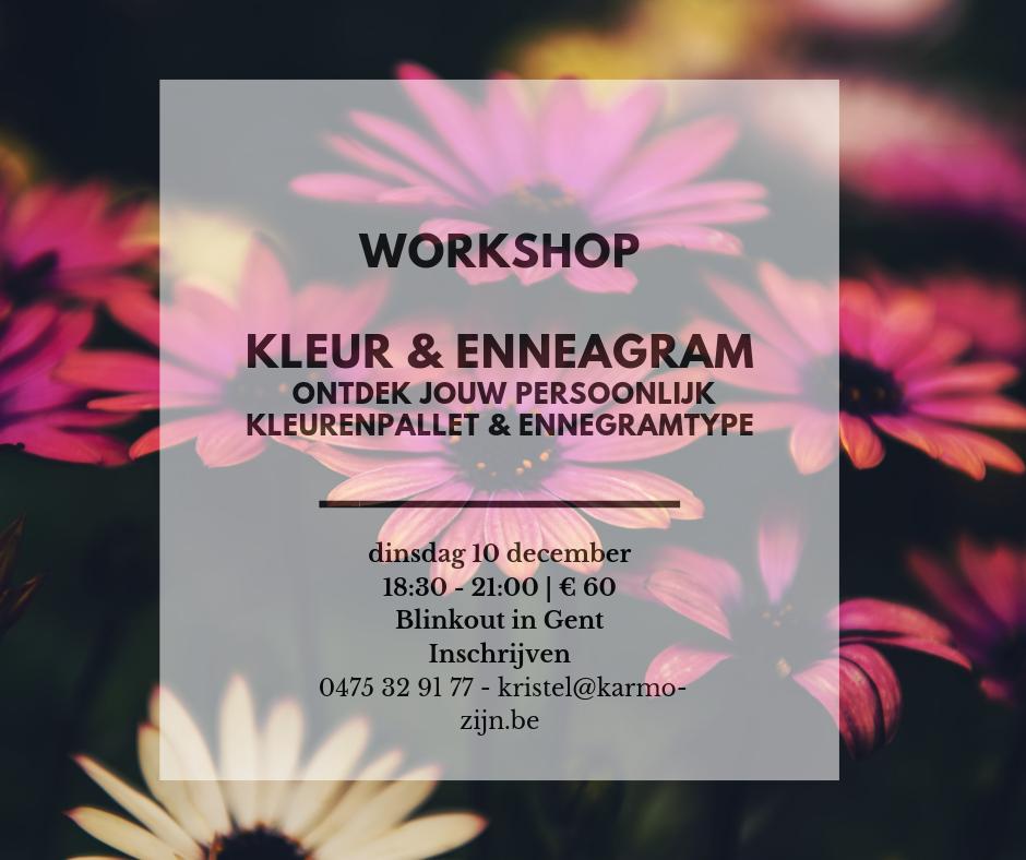 workshop kleur en enneagram